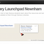 Library launchpad:  SCVNGR treks at Seneca