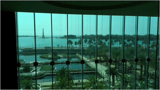 View from Inside KAUST Library