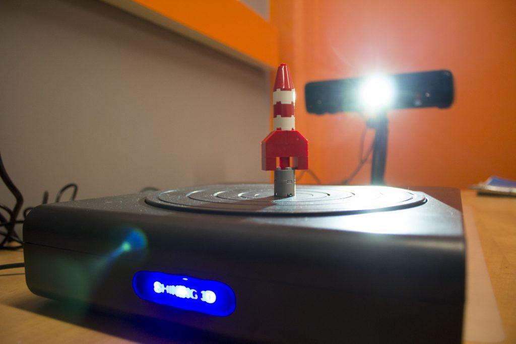 3D scanner in action