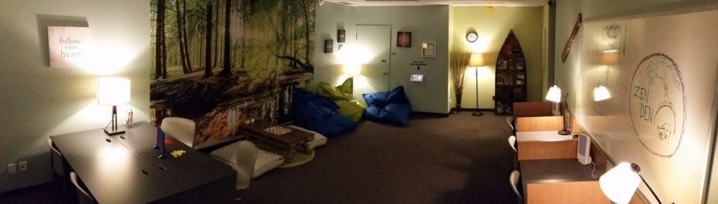 After: The Cambrian Zen Den. Credit: Lynn Bulloch, Cambrian College Marketing team.