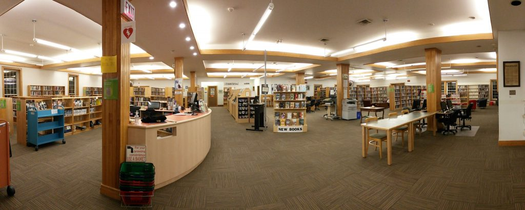 The inside of the Perth Public Library