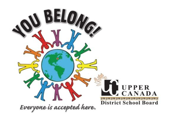Logo of Upper Canada District School Board, which is a circle of people around the earth