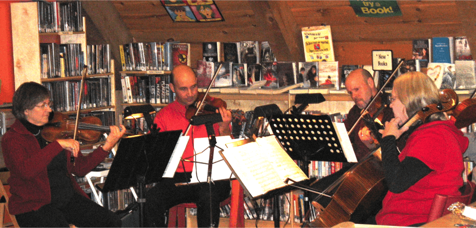 "Then There Is MERRICKVILLE PUBLIC LIBRARY Where A Program Called ""Off The Shelf,"" An Evening Of Eclectic And Short Readings For Adults, Runs Every Month. In December, This Program Showcases Holiday Stories, With Local Musicians Playing And Singing Seasonal Music."