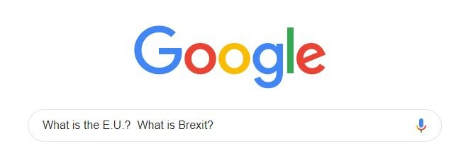 A Google search for What is the E.U.? What is Brexit?