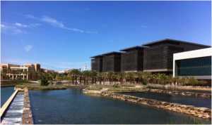 KAUST Library (white building)