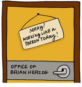 Brian's Office Door