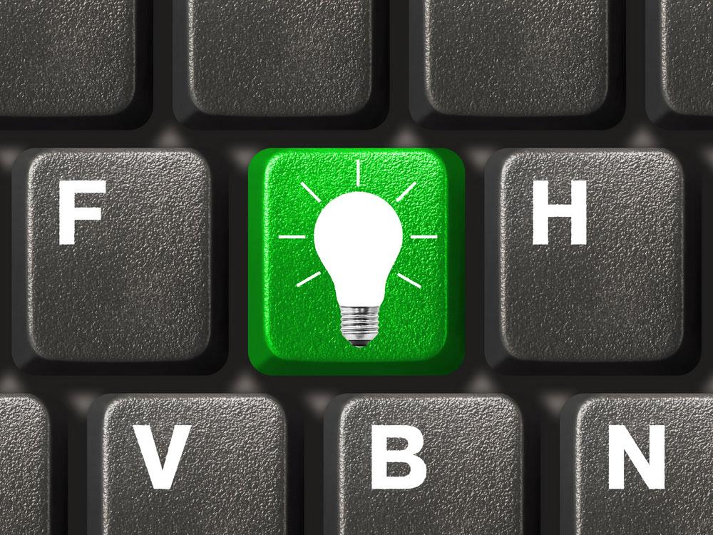 Keyboard and Light Blub