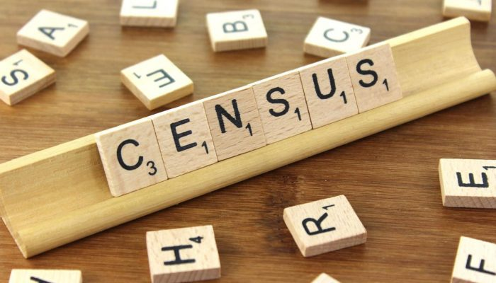 Census Spelled With Scrabble Tiles