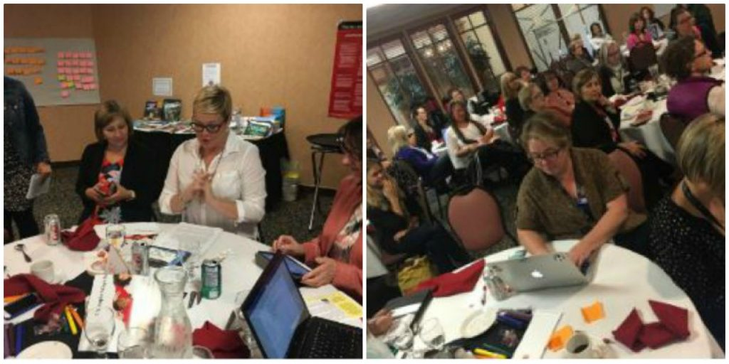 A two-photo collage of teachers at Treasure Mountain 5