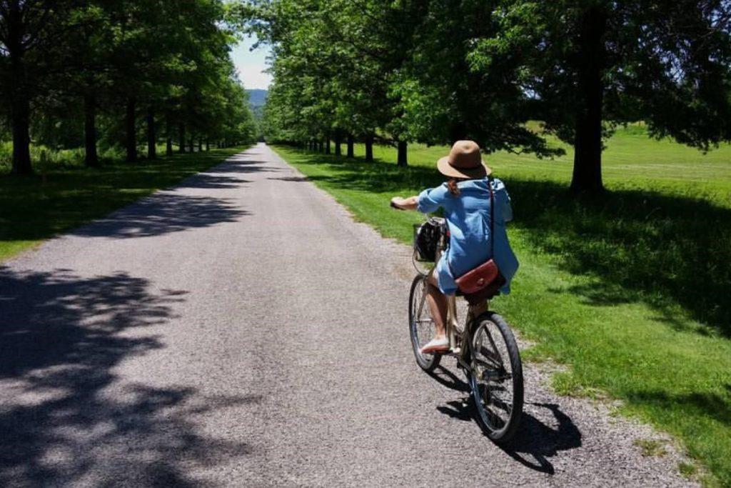 Melanie Parlette-Stewart on a bike.