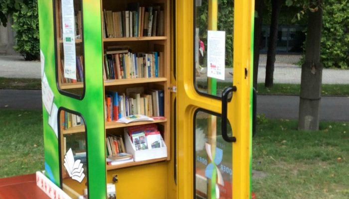 A Phone Booth Repurposed As A Library