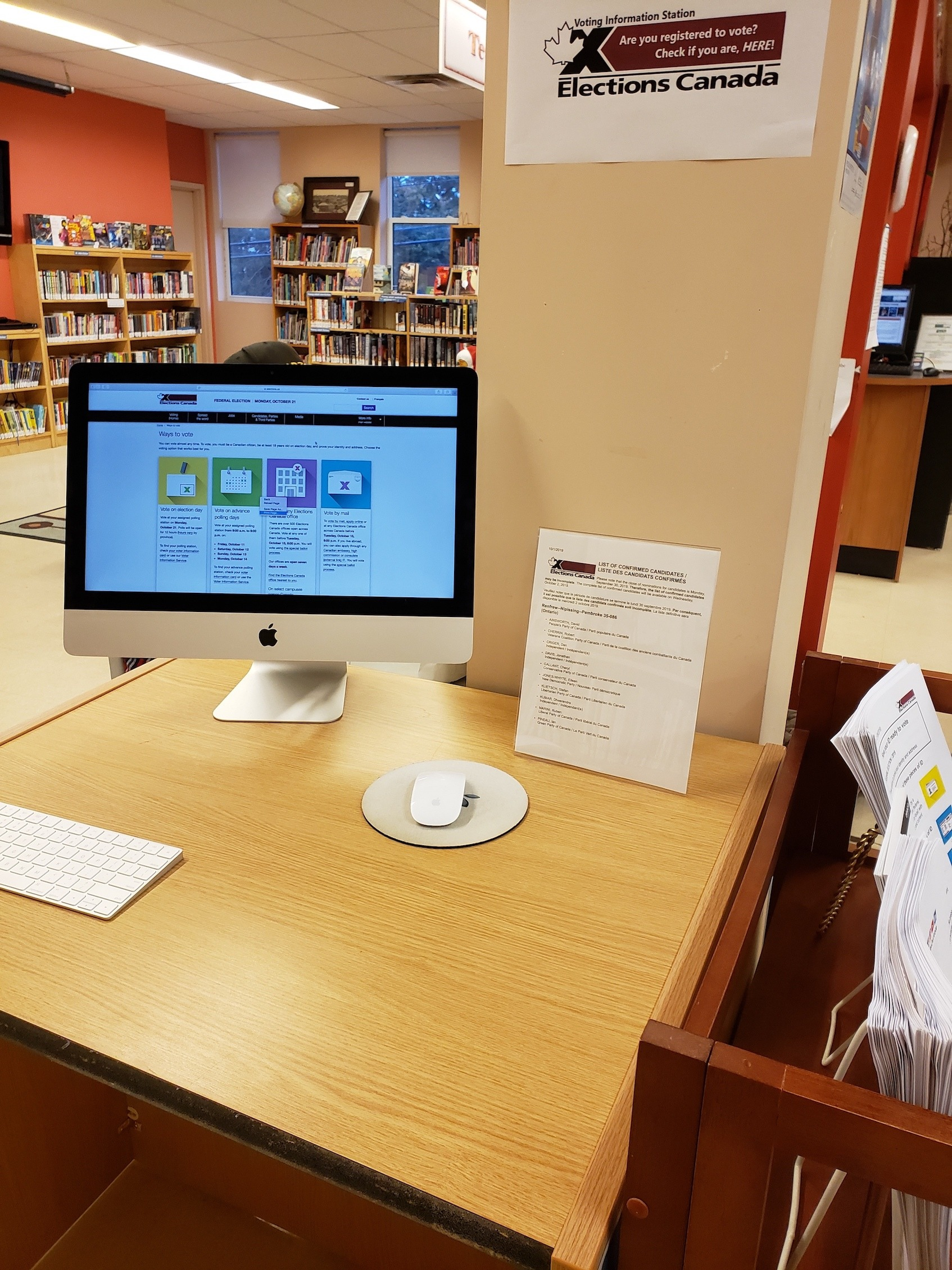 Photo of our Voting Information Station.