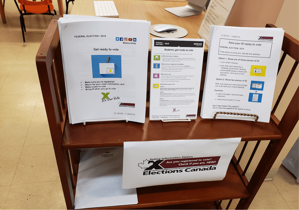 In-library display of the print resources we offer.