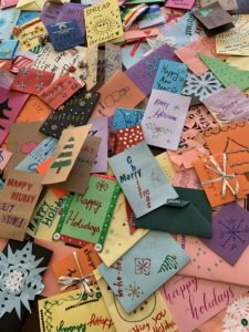 Selection of handmade cards created by U of T students.