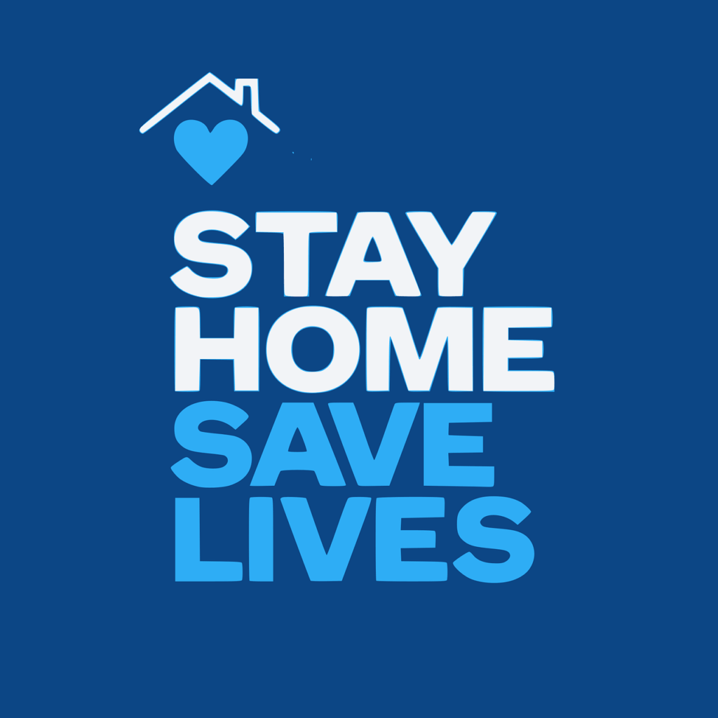 Covid-19 message to stay home because it saves lives.