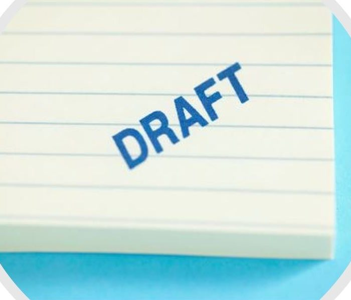Lined Pad Of Paper Marked Draft