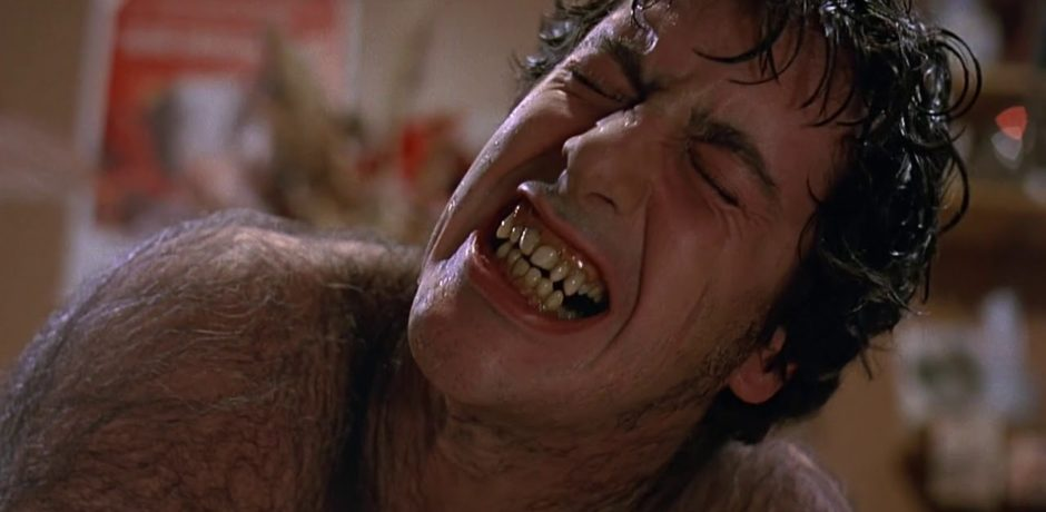 image of a werewolf transformation from An American Werewolf in London