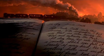 image of a book and train from Bram Stoker's Dracula