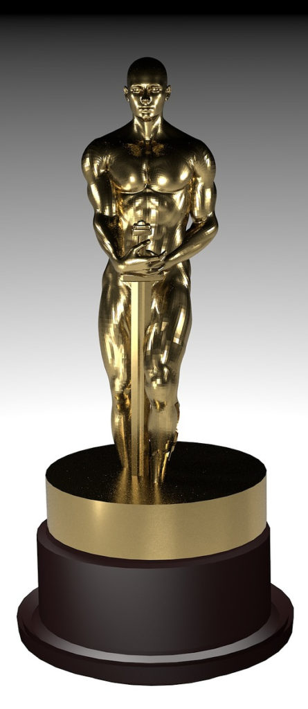 The Oscars trophy