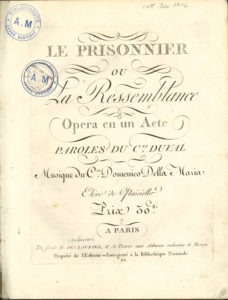 The first page and front matter of Le Prisonnier